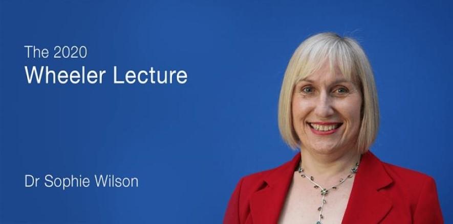 2020 Wheeler Lecturer Dr Sophie Wilson