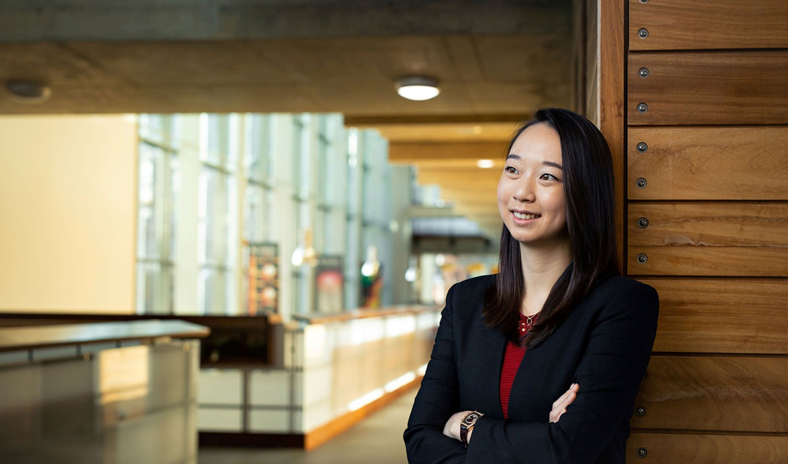 PhD student Michelle Seng Ah Lee pictured in the University of Cambridge Department of Computer Science and Technology