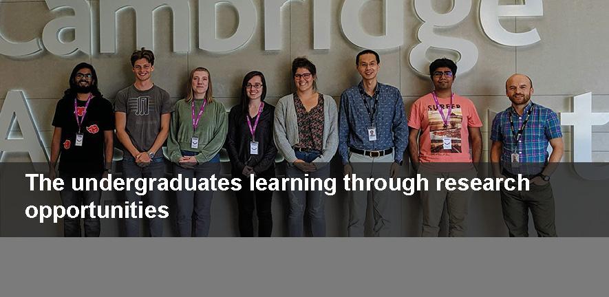 Undergraduate research interns at Cambridge Assessment 2019