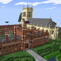 St John's College Cambridge recreated on Minecraft