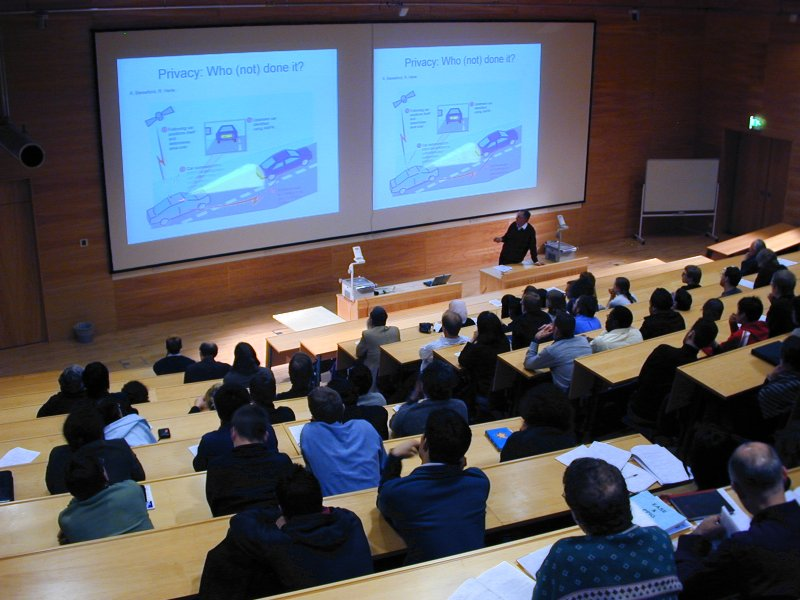 Lecture theatre during Wednesday Seminar